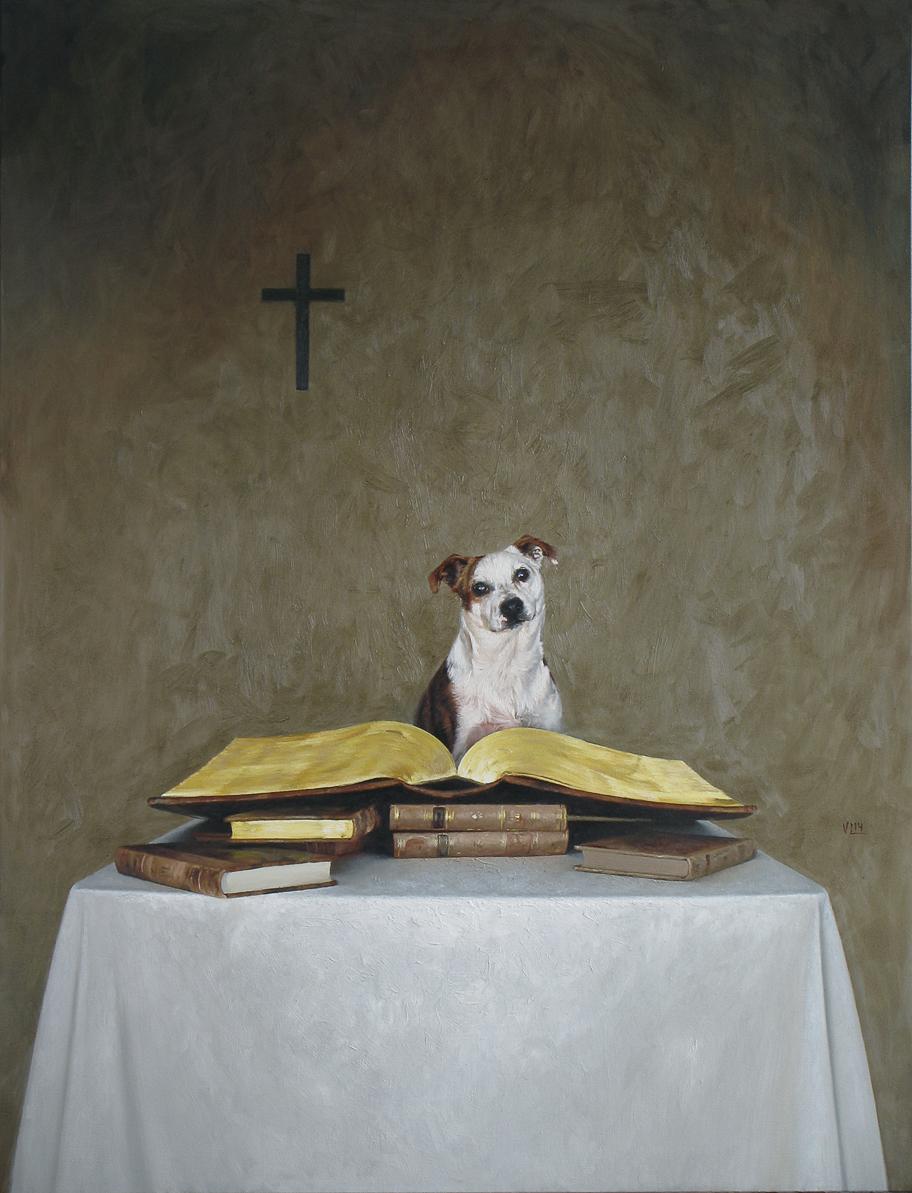 DOGMA, 2014, 89 x 116, oil on canvas (medium)