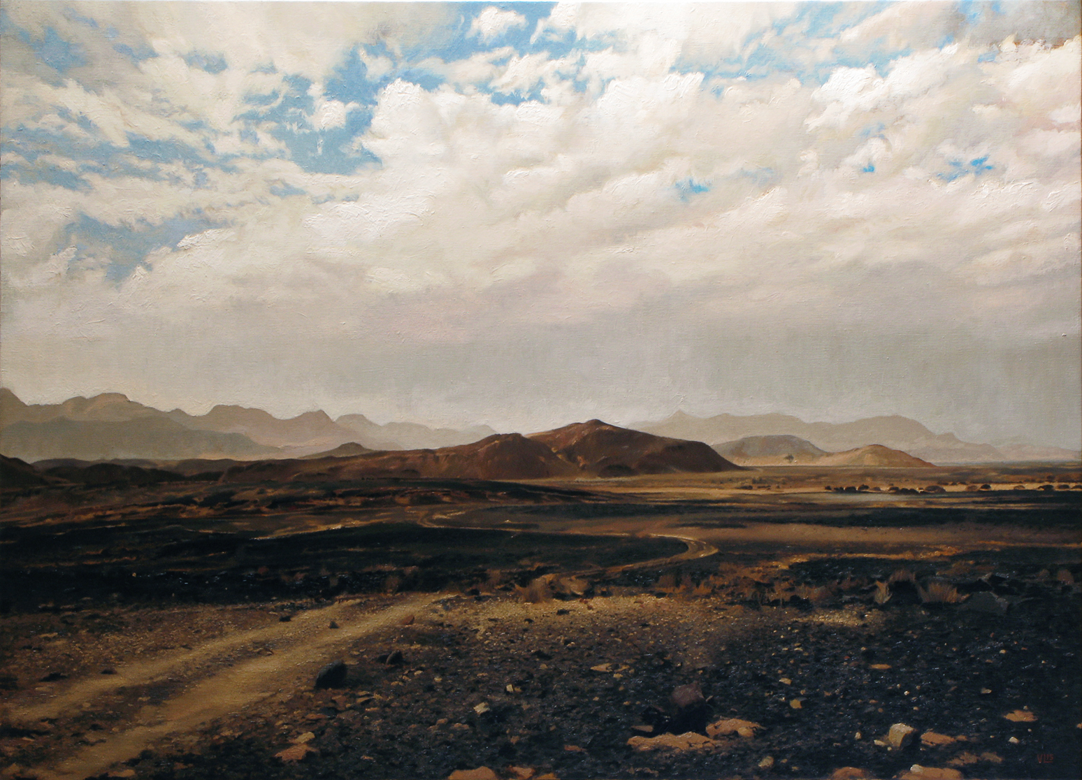 Damaraland, Namibia, 2015, 125 x 90, oil on canvas (medium)