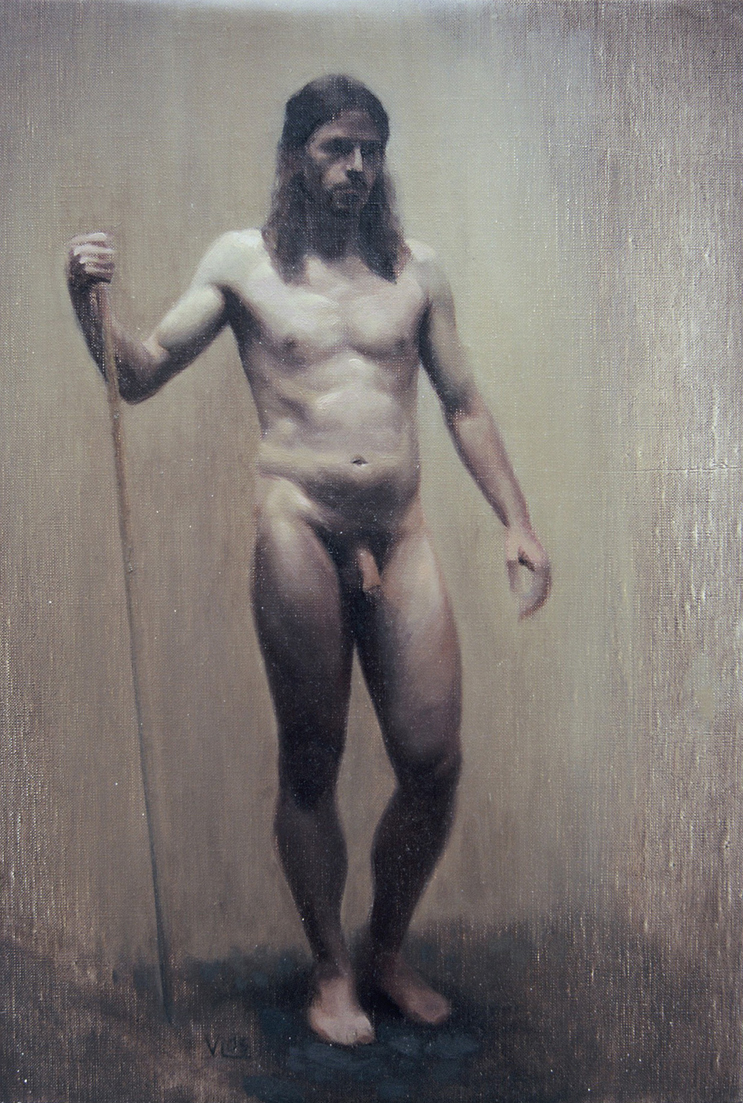 male figure with stave valdemar lethin