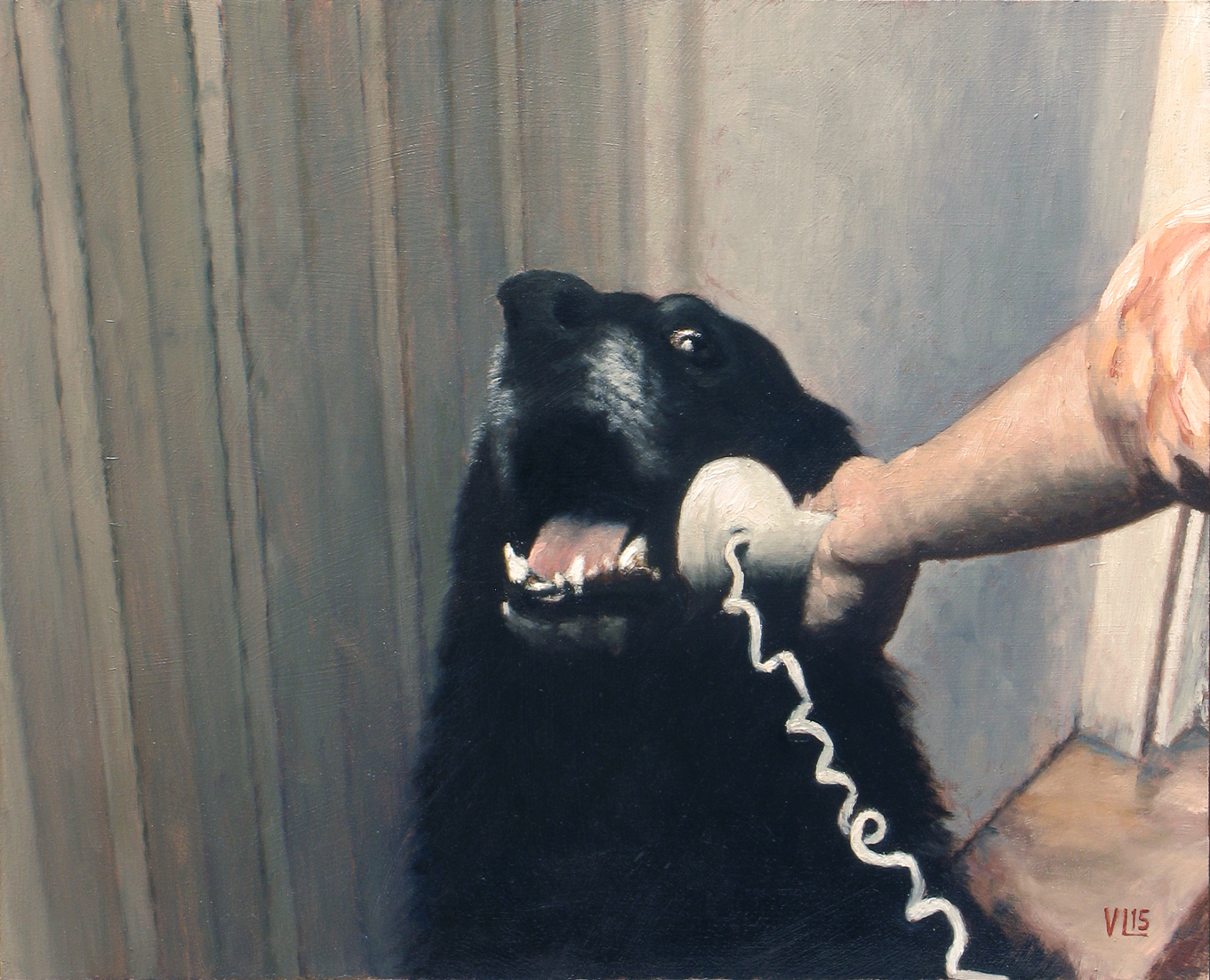 hello yes this is dog, 2015, 37 x 30 (medium)