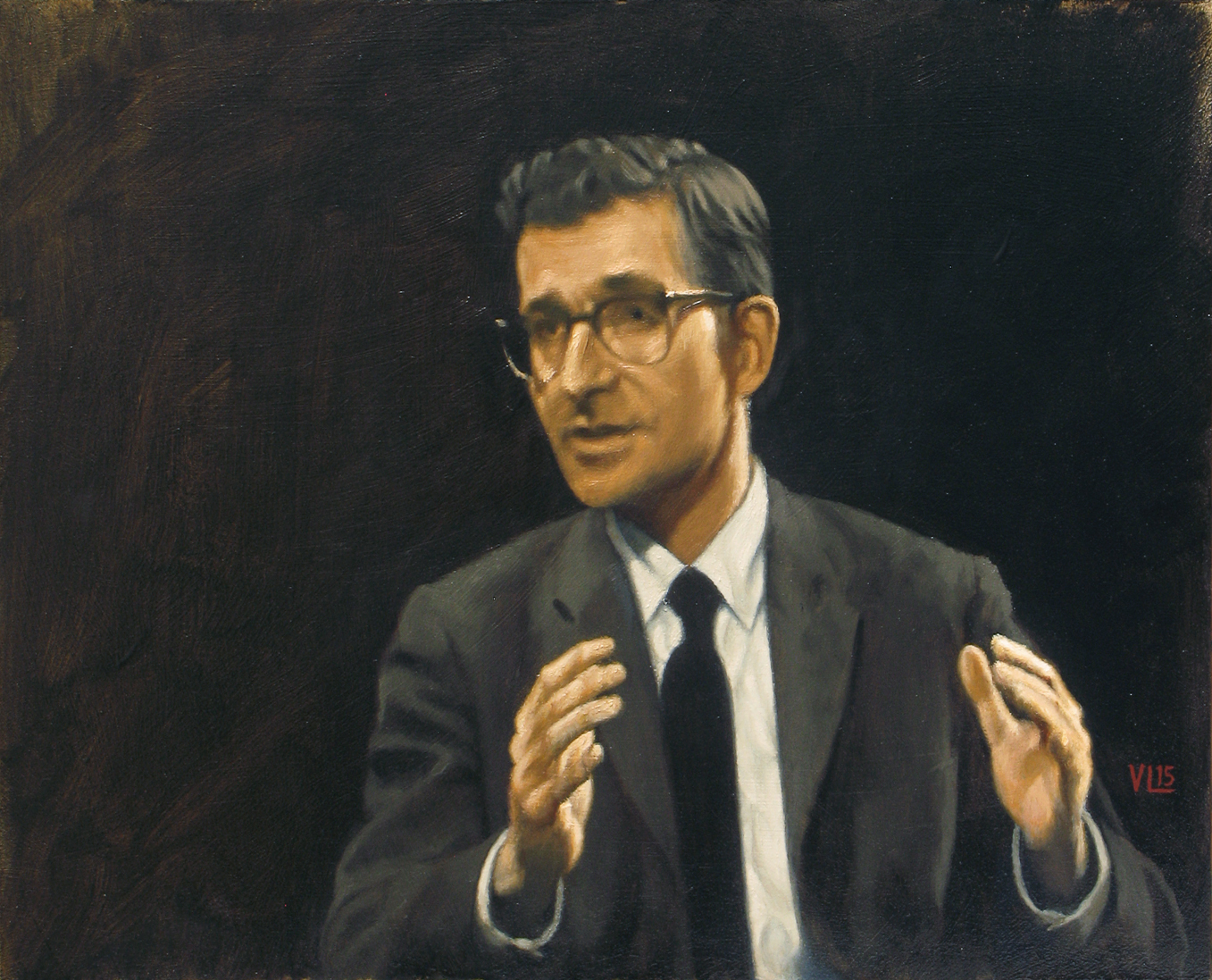 noam chomsky on firing line 1969, 2015, 37 x 30 (medium)