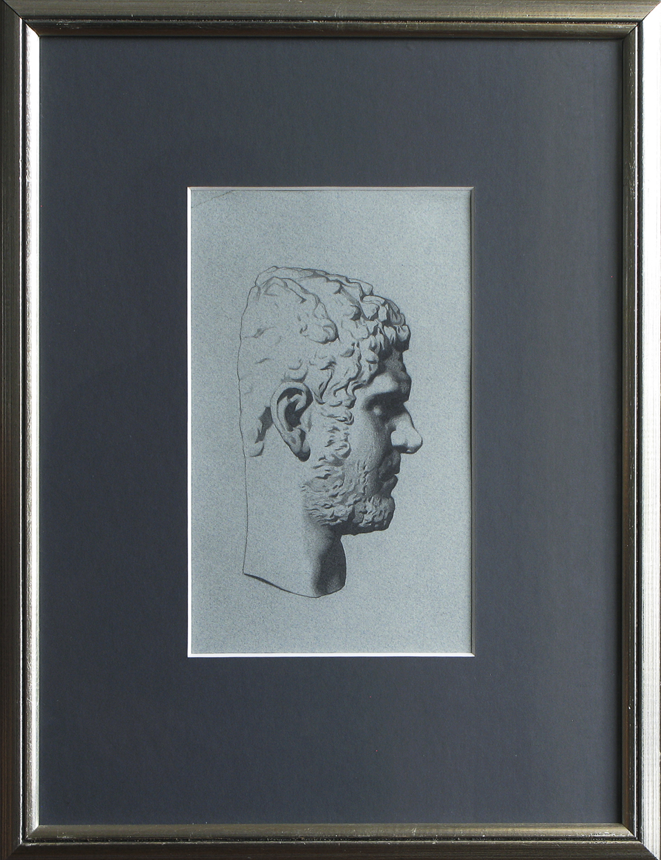 Caracalla-bargue, 2002, visible surface 14 x 23, pencil on paper (medium)