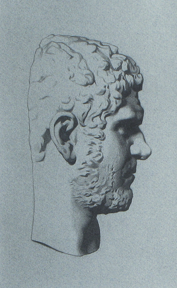 Caracalla-bargue closeup (DETAIL), 2002, visible surface 14 x 23, pencil on paper (medium)