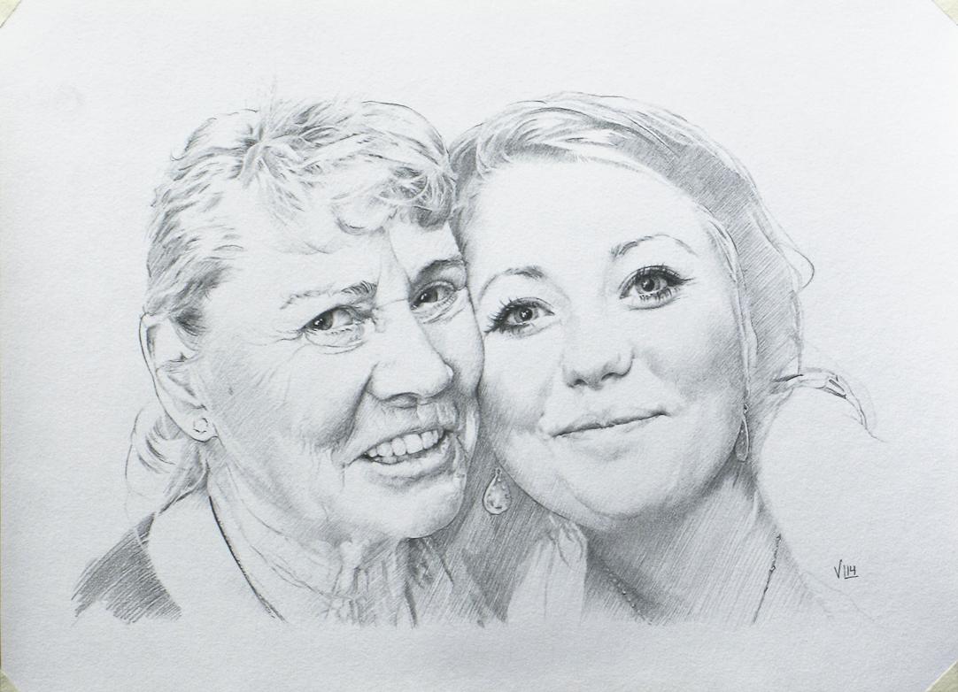 Mona och Jessica, 28,7 x 21, 2014 (medium)