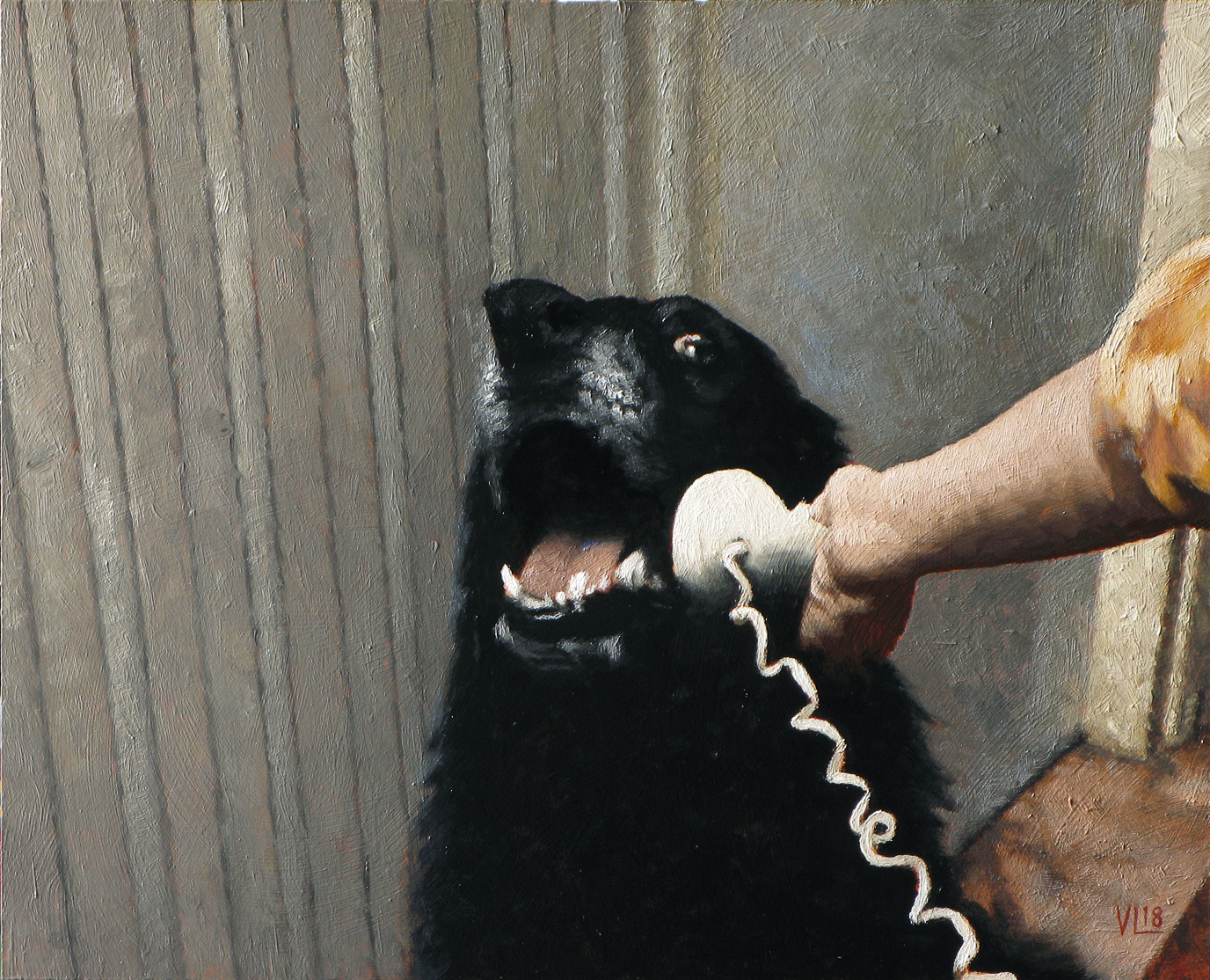 hello yes this is dog portrait 2, 2018, 37 x 30 (medium)